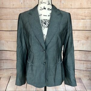 The Limited Grey Suit Jacket Blazer Size 10